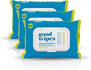 Goodwipes Flushable & Biodegradable Wipes with Botanicals, Dispenser for At-Home Use Safe, Shea-Coco with Aloe, Septic and...