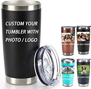 Custom Personalised Travel Tumbler Mug Double Insulated Stainless Steel Cup 400m