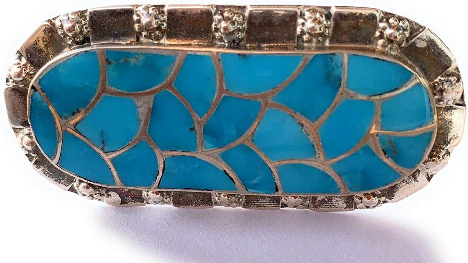 Zuni Sleeping Beauty Turquoise Sterling Ring Silver Si Purchase Statement Max 45% OFF