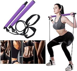 DREAM HORSE Pilates Exercise Resistance Bands Yoga Pilates Bar Kit Muscle Toning Bar Portable Home Gym Pilates Body Shapin...