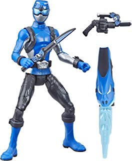 """Power Rangers Hasbro Beast Morphers Blue Ranger 6"""" Action Figure Toy Inspired by The TV Show"""