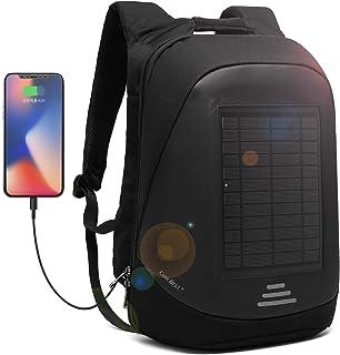 DTBG Mochila con Cargador Solar Mochila para portátil de 15