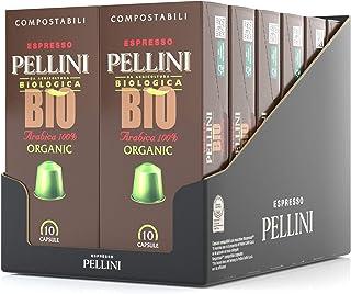 Pellini Caffè, Espresso Bio 100% Arabica, Capsules auto-protégées COMPOSTABLES et compatibles avec machines Nespresso - Pa...