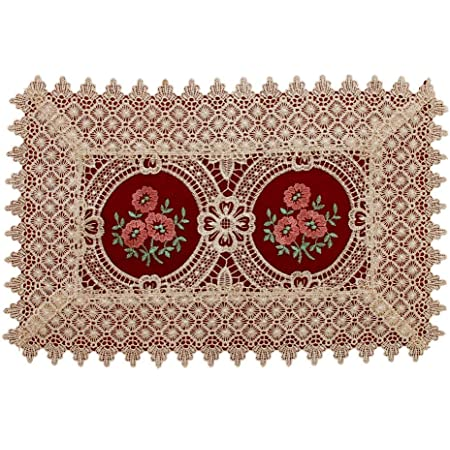 Table Runner Mats Dining Placemat Vintage Embroidered Lace Doilies Wedding Decor