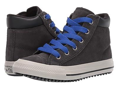 Converse Kids Chuck Taylor All-Star Boots on Mars Hi (Little Kid/Big Kid) (Almost Black/Blue/Birch Bark) Boys Shoes