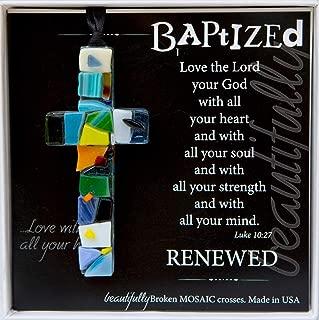 The Grandparent Gift Handmade Mosaic Baptism Cross