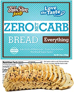 ThinSlim Foods 50 Calorie, 1g Net Carb, Love-The-Taste Low Carb Bread Everything