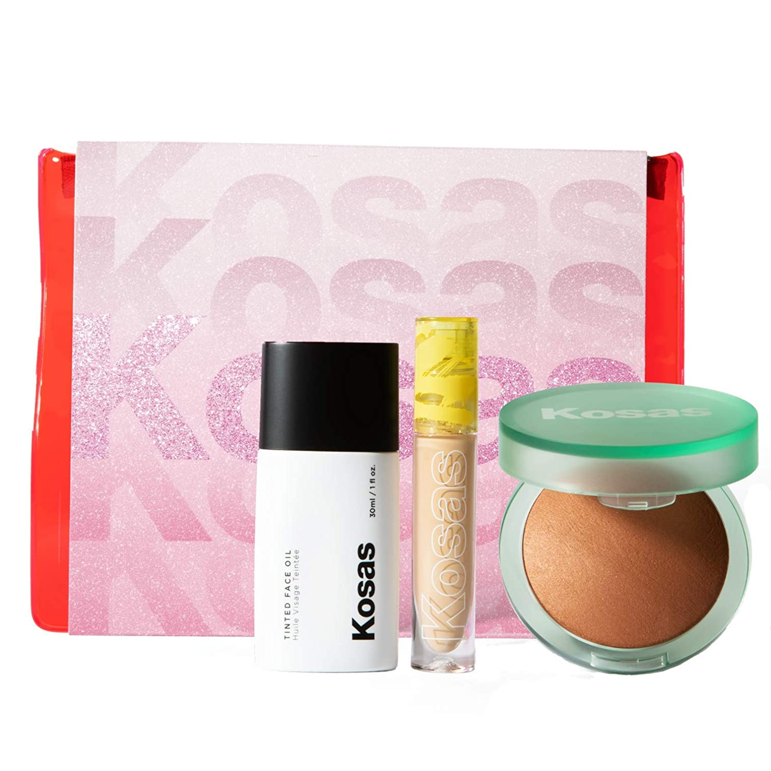 Kosas The Glow All Out Set discount Tint Max 66% OFF Ton + Bronzer Concealer Skin