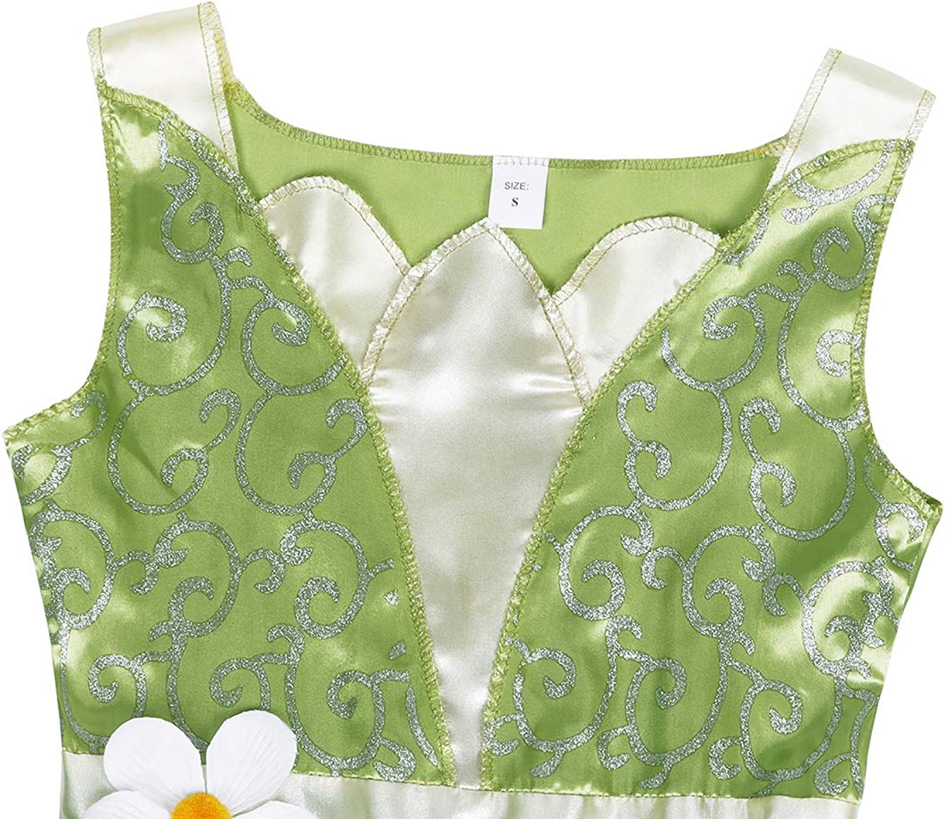 Cotrio Kids Girls Green Fairy Tale Princess Dress Birthday Party Fancy Dresses Halloween Costume Outfits 3-8 Years