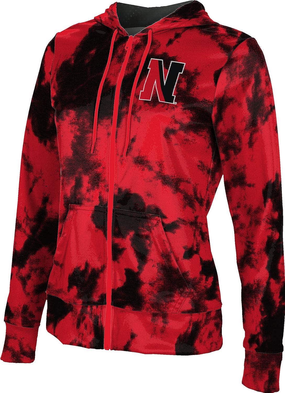 ProSphere Northeastern University Girls' Zipper Hoodie, School Spirit Sweatshirt (Grunge)