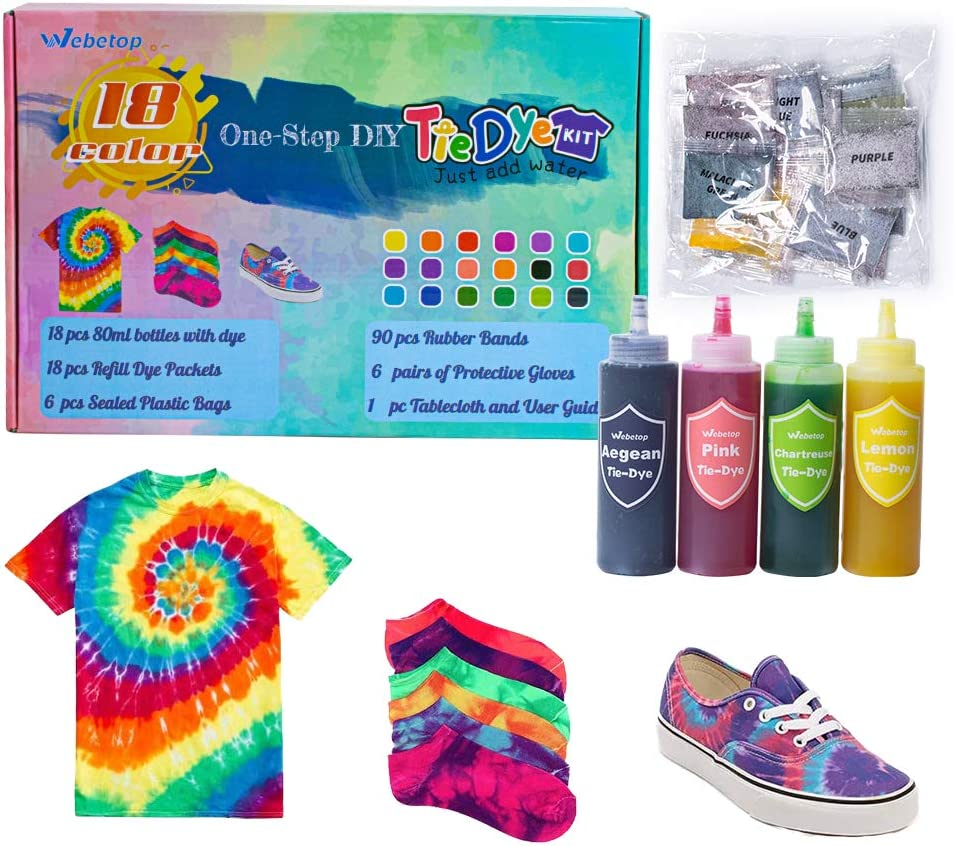 Webetop 18 Colors DIY Tie Dye 70% OFF Outlet Fabric Popular shop is the lowest price challenge Shirt Kit 80ml for