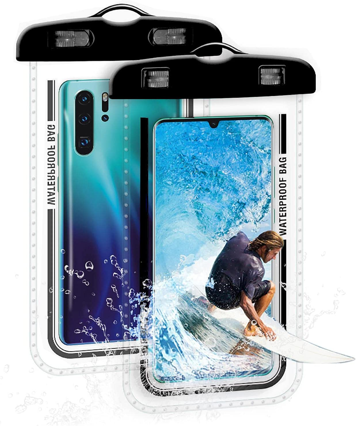 Mona43Henry Universal Waterproof Phone Bag, 7 Inches Waterproof Phone Pouch, Full-Screen Transparent Touch Sensitive Cellphone Dry Bag, Super Tightness Underwater Case Favorable