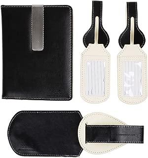 Y&G Men's Fashion Travel Passport Wallet Gift For Mens Passport Holder, with Luggage Set