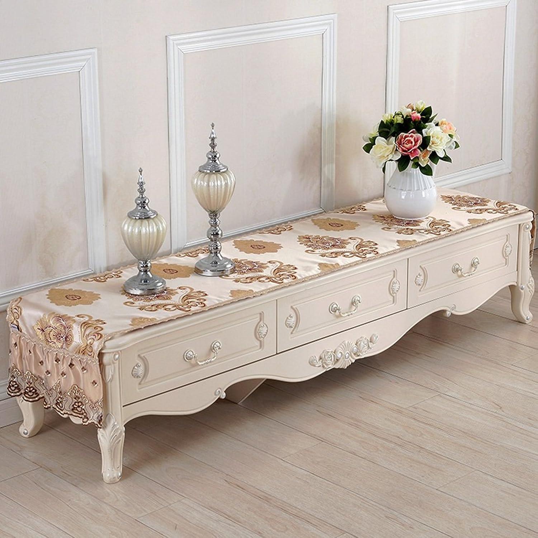 servicio honesto ropa de cocina Mantel rectangular, mesa de de de café europea del mantel de la tabla de café Manteleta de tabla de la mesa de café del gabinete de TV TV del gabinete (Color   A, Tamaño   50180cm)  garantizado