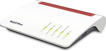 AVM FRITZ!Box 7590 International - Modem Router 4x4 WiFi AC con MU-MIMO (1733 Mbps en 5 GHz y 800 Mbps en 2,4 GHz),  Mesh,  VDSL,  ADSL2+,  1 x WAN Gigabit,  4 x LAN Gigabit,  interfaz en Español