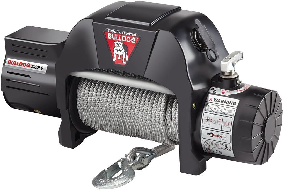 Bulldog 500600 Memphis Mall Long Beach Mall Gray Universal Utility 9000 with Duty Rope Winch