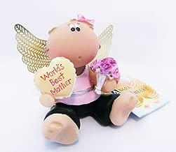Angel Cheeks Figurine World's Best Mother Guardian Angel Russ Berrie Collectible