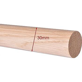 Enden Montagefertiger Buche Treppe Wand Handlauf//Gel/änder//Rundholz//Stange//Griff lackiert /Ø 42 mm mit bearbeiteten Enden ohne Handlaufhalter L/änge Halbkugel gefr/äst 1,8 m 1800 mm 180 cm