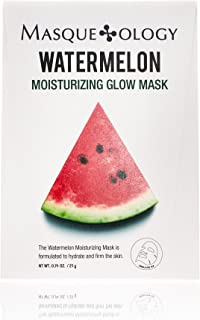 Masqueology Watermelon Moisturizing Glow Mask, 12 Count
