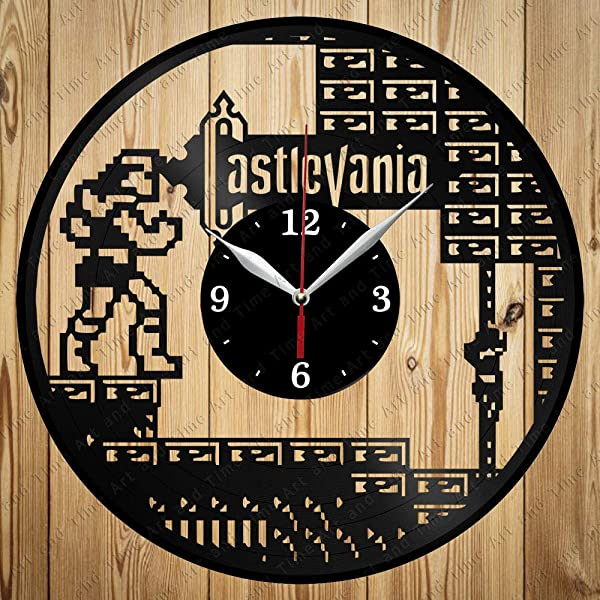 Vinyl Clock Castlevania Art Decor Home Wall Clock Black Original Gift Unique Design