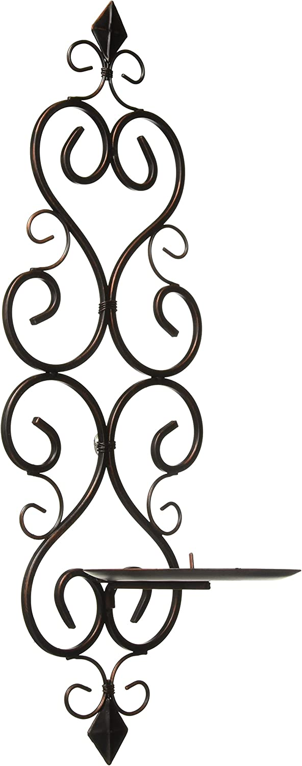 Candles FLEUR-DE-LIS WALL SCONCE DUO Iron Pillar Ranking TOP11 Candle Scroll F trend rank