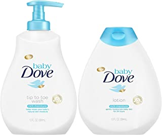 Baby Dove Rich Moisture Bundle, Tip to Toe Wash and Lotion, 13 OunceEach