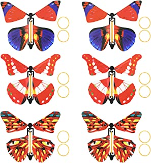NUOBESTY 6pcs Magic Flying Butterfly Wind Up Toy Butterfly in the Book Classic Romantic Toys Cards for Kids Party Favors M...