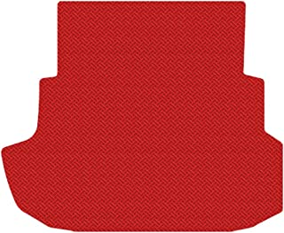 Brightt (MAT-RNZ-151) Standard Trunk Cargo Floor Mat - Red All-Weather Rubber Weave Pattern - compatible for 2007-2007 Ford Mustang Shelby GT 500 Convertible|With Shaker 1000 (2007 | 07)