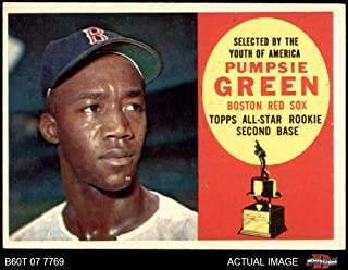 1960 Topps # 317 Pumpsie Green Boston Red Sox (Baseball Card) Dean's Cards 5 - EX Red Sox