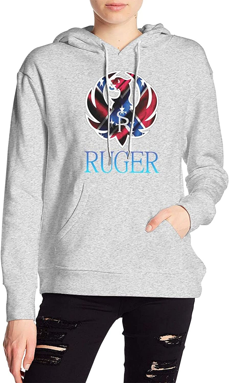 Ruger Women's hooded Max 72% OFF Max 48% OFF Gray sweatshirt