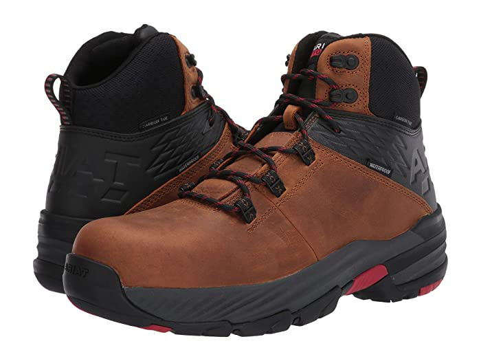 Ariat  6 Striker 360 Waterproof - Carbon Toe (Trusty Tan) Mens Work Boots