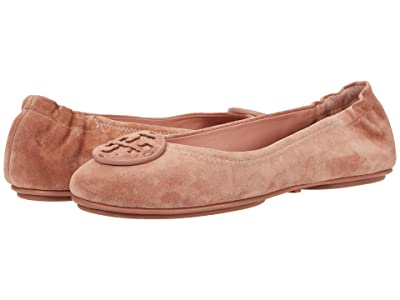 Tory Burch Minnie Travel Ballet with Leather Logo (Malva/Malva) Women