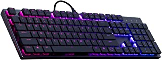 Cooler Master Sk-650-Gklr1-US SK650 Mechanical Keyboard with Cherry MX Low Profile Switches in Brushed Aluminum Design