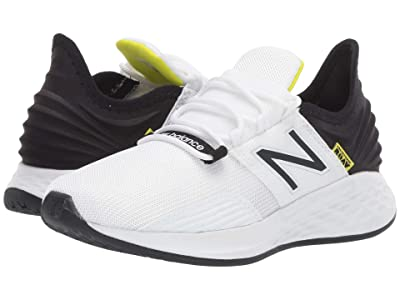 New Balance Kids Fresh Foam Roav (Little Kid) (White/Black/Bleached Lime Glo) Boys Shoes