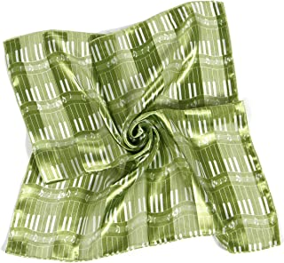Satin Scarf Hair Neckerchief Wraps for Women, Music Note Gif