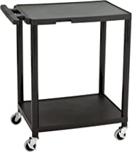 Norwood Commercial Furniture 2-Tier Plastic Rolling Cart, NOR-OUG1043-SO