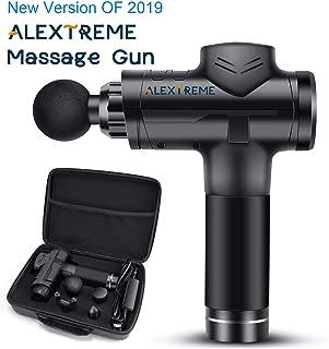 ALEXTREME Massage Gun, 2019 New Muscle Massage Gun, Powerful Cordless Handheld Deep Tissue Muscle Massager, Professional Personal Percussion Massage Gun, with 6 Speeds and 4 Massage Adapters