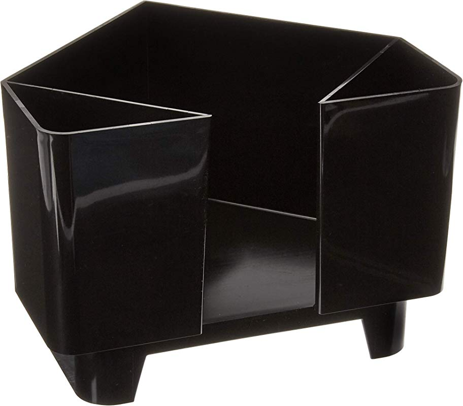 Co Rect Plastic Bar Caddy With Triangular Design Black