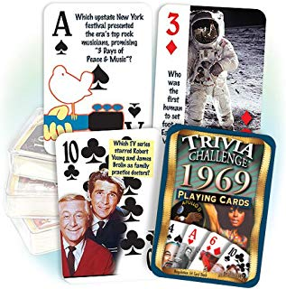 Flickback 1969 Trivia Playing Cards: 50th Birthday or 50th