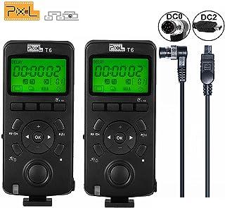 Pixel 2PCS 2.4GHZ Disparador inalámbrico Temporizador de liberación Transceptor Pantalla LCD de control remoto para Nikon D800S D700 D300S D2S D1S D850 D7100 D5000 D3200 D3100 D750
