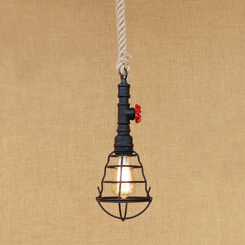 Vintage noir a Hommesé la lumière pendentife industrielle créative rétro loft pendentife lampe de restaurant de fer de fer