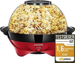 Aicook Machine à Popcorn, Électrique Machine à Pop Corn avec Plateau de Cuisson Détachable, Revêtement Antiadhésif, Bol de...