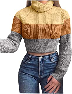 Ladies Fashion Autumn And Winter Knitted Blouse High Collar T-Shirt Sweater