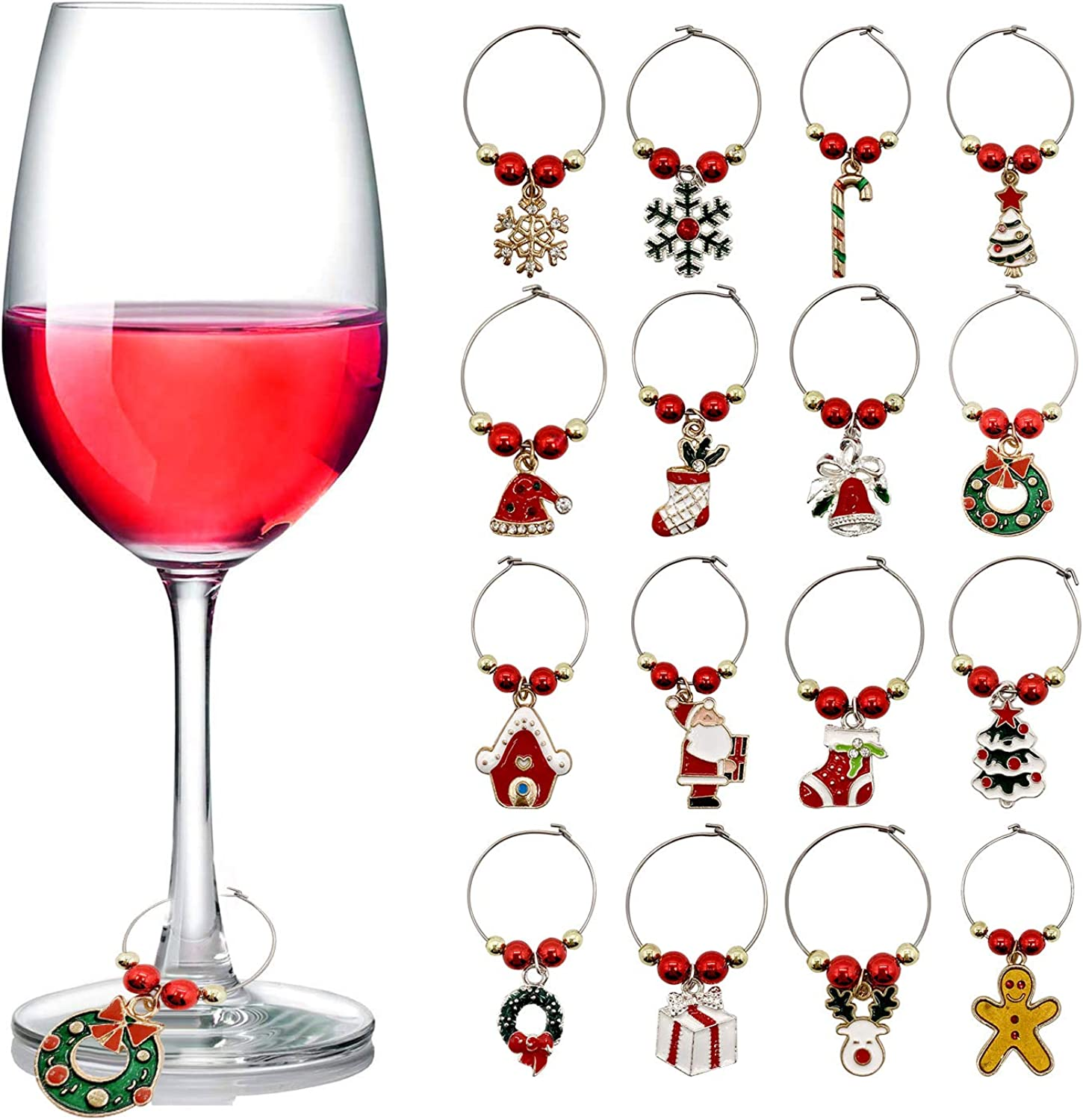 Wine Glass Ranking TOP20 Charms Tucson Mall Christmas Ident Themed Tags Markers