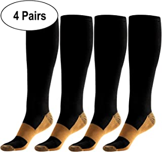 HK Compression Socks Women Nursing Multipack Wide Calf Stockings 15-20 mmHg for Men Running Pregnancy Travel Ankle Shin Splints Arch Support