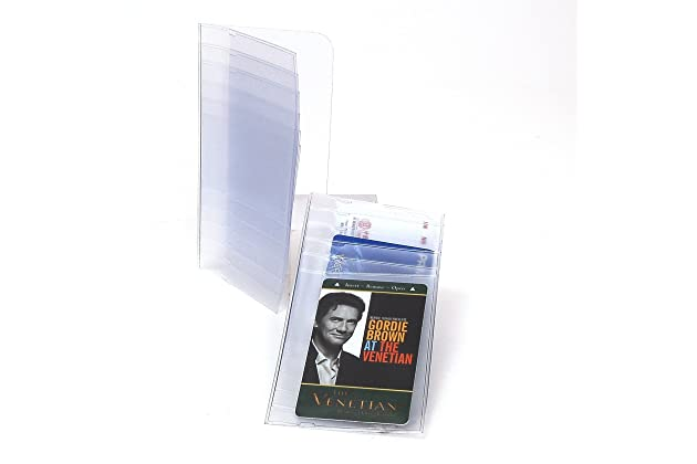 2 Plastic Replacement Inserts Picture Card 5 page Holder for Checkbook Wallet
