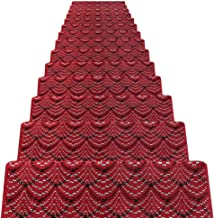 JIAJUAN Stair Carpet Treads Non-Slip Indoor Self Adhesive Treads Large Rugs Mats, 14 Mm, 6 Styles, 5 Sizes (Color : C-5 pc...