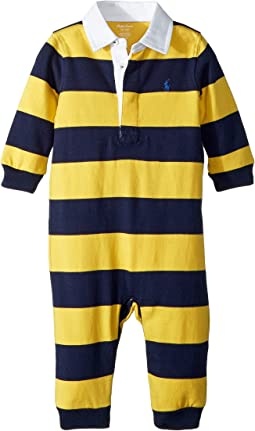 Striped Cotton Rugby Coverall (Infant)