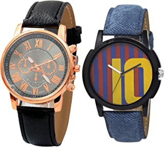 NIKOLA Messi Football Analogue Black and Blue Color Dial Boys Watch - B192-BL46.10 (Pack of 2)