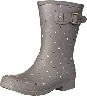 Chooka Downpour Dot Mid Boot, Cl, 6